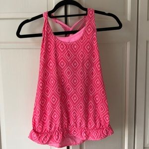 Ivivva Lululemon Pink Workout Top with Sports Bra